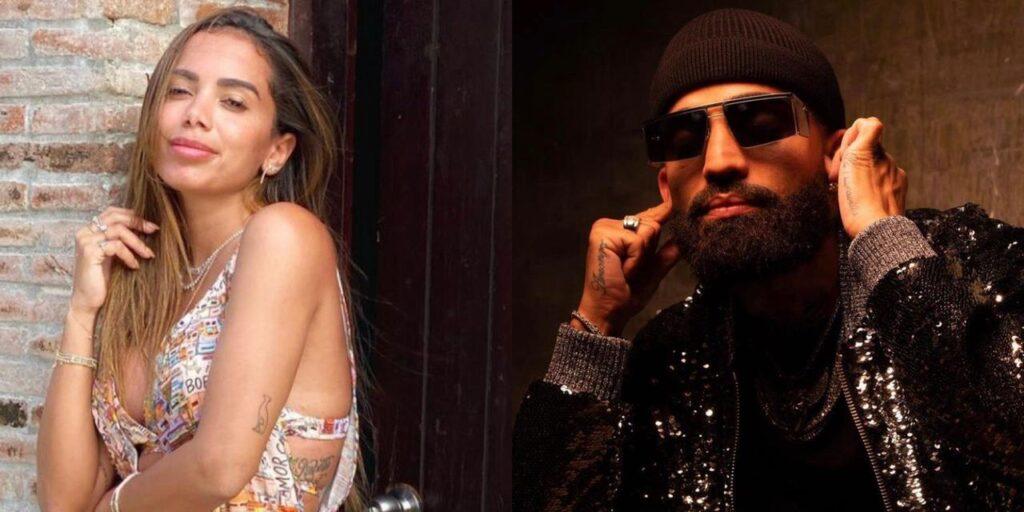 Anitta ficou revoltada com publicação feita pelo cantor Arcangel (foto: Montagem/Redes Sociais)