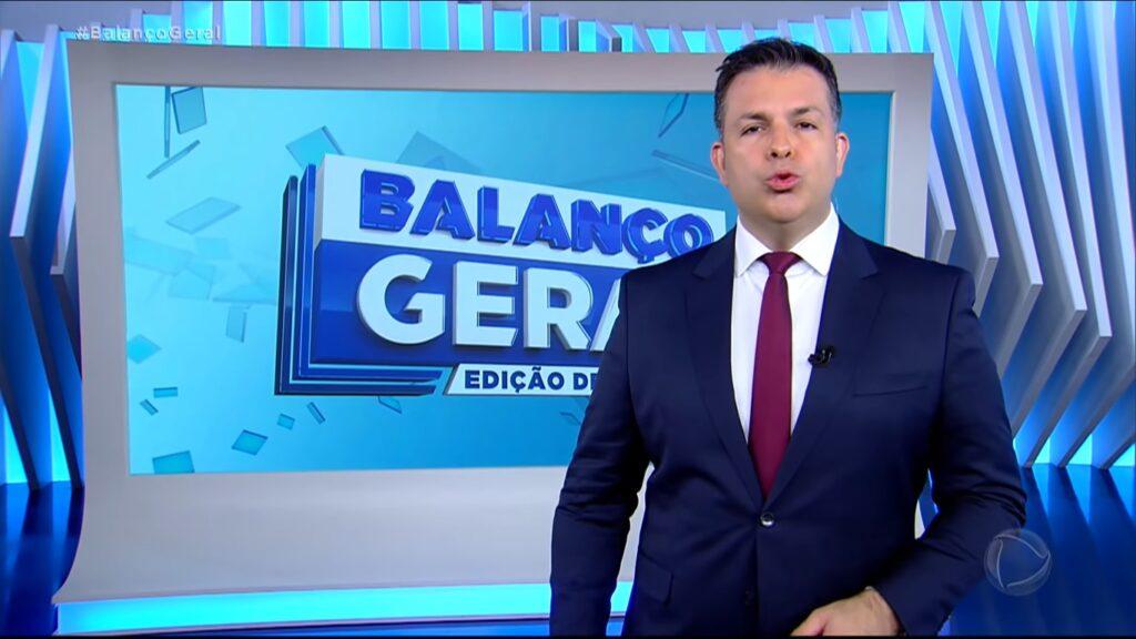 Matheus Furlan no Balanço Geral de 27 de março: mais visto do que toda a programação do SBT no dia (foto: Reprodução/Record)