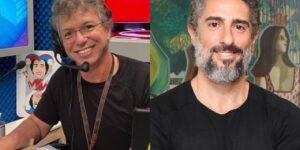 Boninho usou o Twitter para mandar recado para Marcos Mion (foto: Montagem/Redes Sociais)