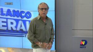 Cacau Menezes é colunista do Balanço Geral de Florianópolis: afiliada da Record divulga teorias da conspiração sobre a Covid-19 (foto: Reprodução/NDTV)