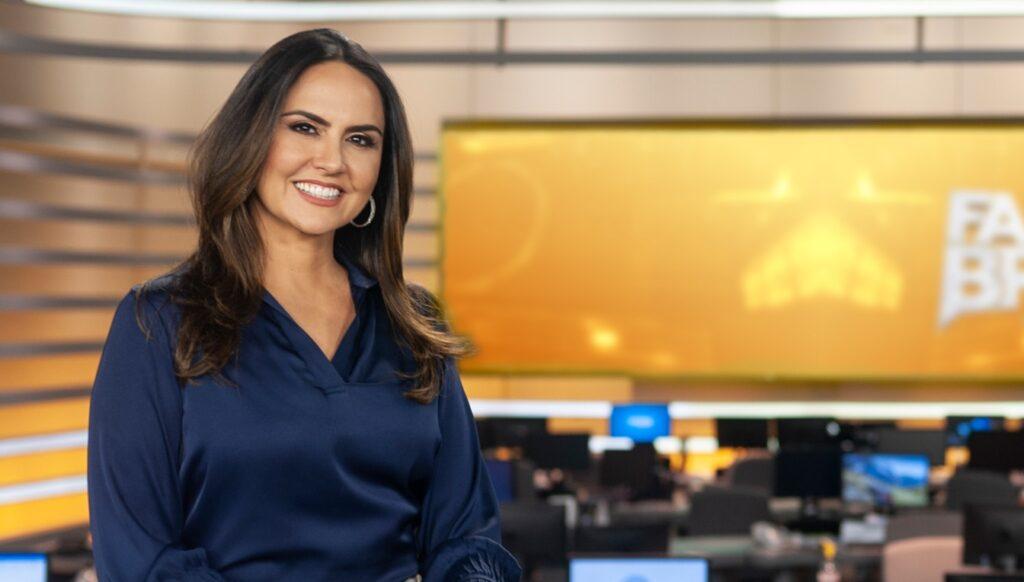 Carla Cecato foi demitida da Record: jornalista ganhava R$ 65 mil mensais (foto: Antonio Chahestian/Record)