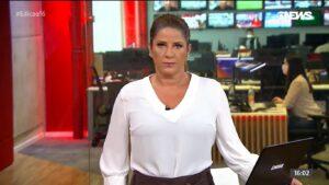 Christiane Pelajo no Edição das 16 de 22 de março: afastada um dia depois de voltar de férias (foto: Reprodução/GloboNews)