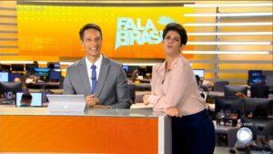 Mariana Godoy e Sérgio Aguiar foram vice-líderes em estreia no Fala Brasil (foto: Reprodução/Record)