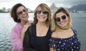 O trio de protagonistas de Filhas de Eva, uma das maiores apostas do Globoplay para 2021 (foto: Estevam Avellar/TV Globo)