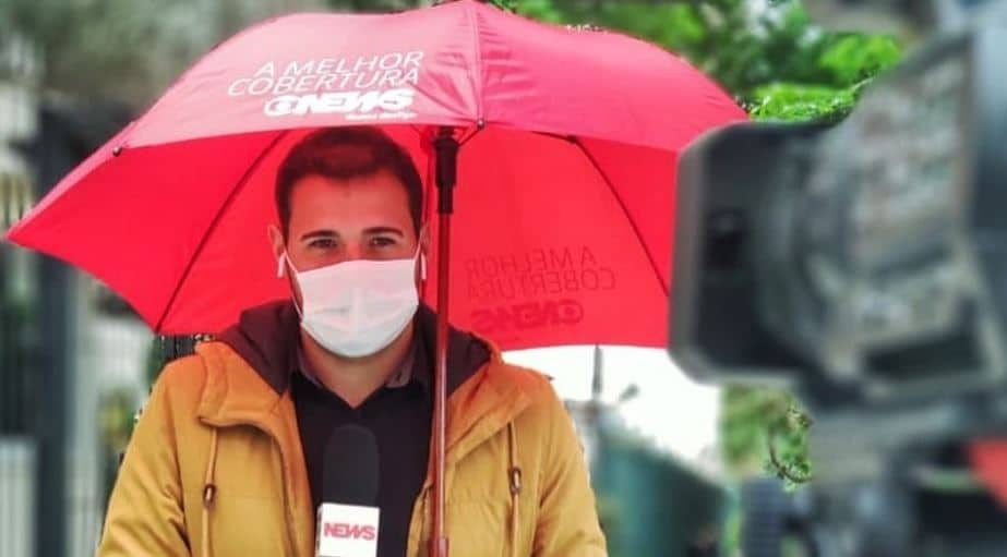 Gabriel Vendramini, repórter da Globo, desabafou nas redes sociais sobre os desafios de cobrir a pandemia de Covid-19 (foto: Reprodução)