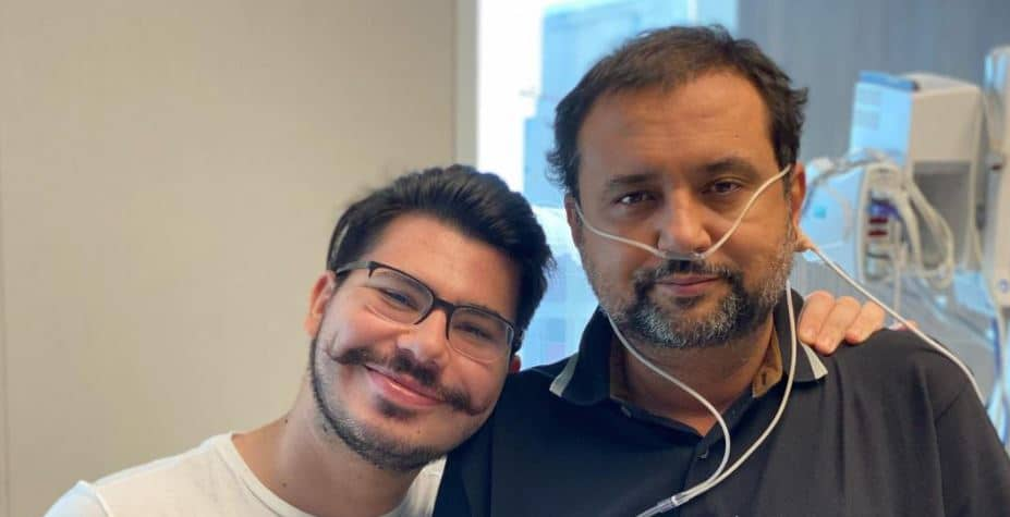Geraldo Luís venceu mais uma etapa do tratamento contra a Covid-19 e deixou a UTI (foto: Reprodução/Redes Sociais)