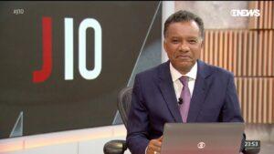 Heraldo Pereira em sua última aparição no Jornal das 10, em 12 de fevereiro: medo de voltar ao trabalho (foto: Reprodução/GloboNews)