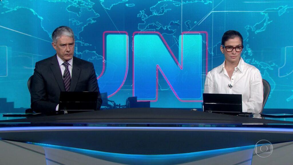 Jornal Nacional bateu novo recorde de audiência nesta quarta-feira (foto: Reprodução/TV Globo)