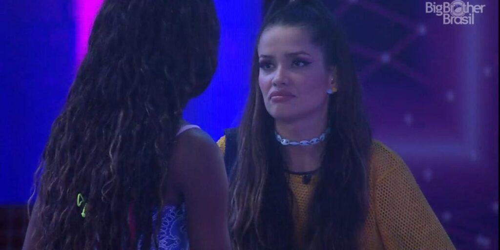 Juliette desabafou na casa do BBB e afirmou que é desprezada por Fiuk (foto: Reprodução/TV Globo)
