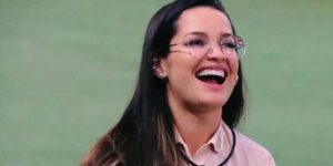 A equipe de Juliette Freire comemorou 17 milhões de seguidores em uma rede social, mas evitou usar o número associado a Jair Bolsonaro (foto: Reprodução/TV Globo)