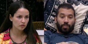 Juliette e Gilberto protagonizaram uma discussão por conta de Fiuk (foto: Montagem/Reprodução/TV Globo)