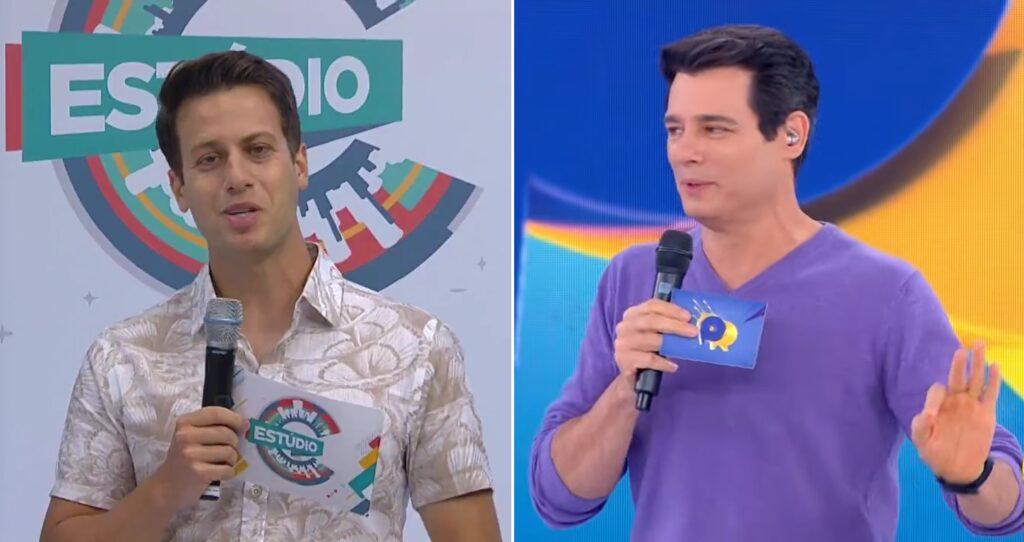 Leonardo Portiolli seguiu os passos de seu tio, Celso Portiolli, e se tornou apresentador de TV (foto: Montagem/RPC e SBT)