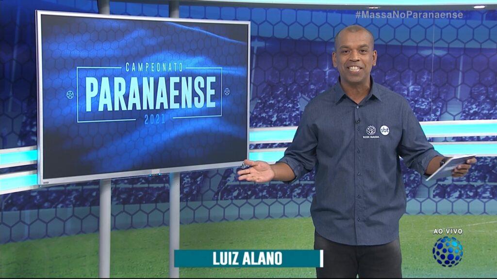 Luiz Alano é o narrador do Campeonato Paranense na afiliada do SBT (foto: Reprodução/Rede Massa)