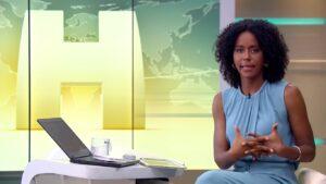 Maju Coutinho foi advertida pela cúpula do Jornalismo da Globo (foto: Reprodução/TV Globo)