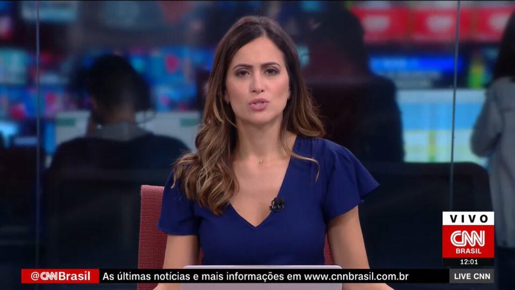 Marcela Rahal em sua última edição do Live, em 19 de março: pegou Covid-19 pela segunda vez (foto: Reprodução/CNN Brasil)