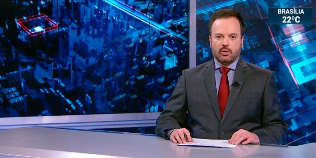 Marcelo Torres no SBT Brasil de 17 de março: líder de audiência na madrugada (foto: Reprodução/SBT)