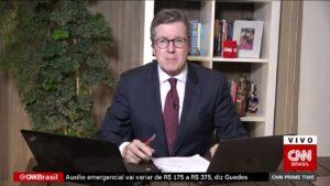 Márcio Gomes faz parte do grupo de ex-globais privilegiados pela direção da CNN Brasil (foto: Reprodução/CNN Brasil)
