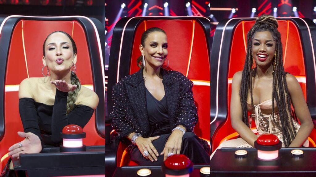Claudia Leitte, Ivete Sangalo e Iza juradas do The Voice (foto: Montagem/TV Globo)