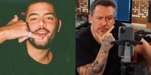 Pedro Sampaio alfinetou Rick Bonadio com remix de música dos Mamonas Assassinas (foto: Montagem/Redes Sociais)