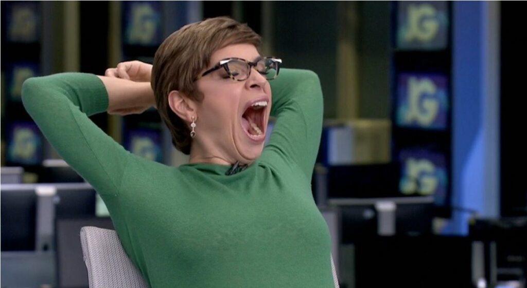 Renata Lo Prete reclamou do horário tardio do Jornal da Globo (foto: Reprodução/TV Globo)