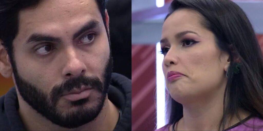 Rodolffo levou uma invertida de Juliette ao tentar tirar satisfações sobre o paredão do BBB (foto: Montagem/TV Globo)