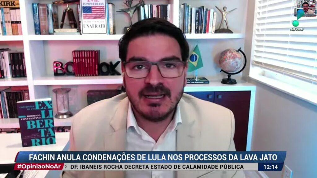 Rodrigo Constantino no Opinião no Ar de 9 de março: usou redes sociais para defender intervenção militar (foto: Reprodução/RedeTV!)
