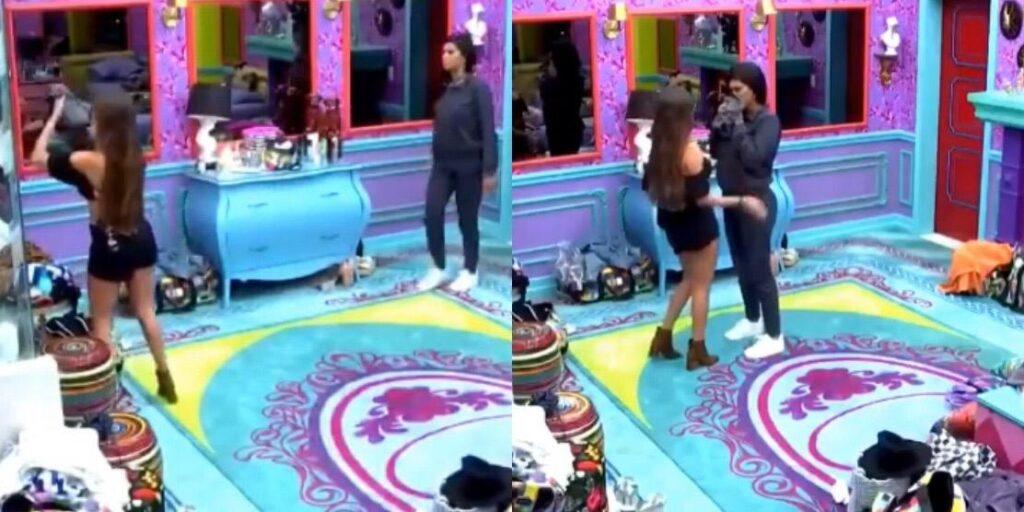 Thais teve uma crise de choro após ser acusada de ter feito xixi na calça (foto: Montagem/TV Globo)