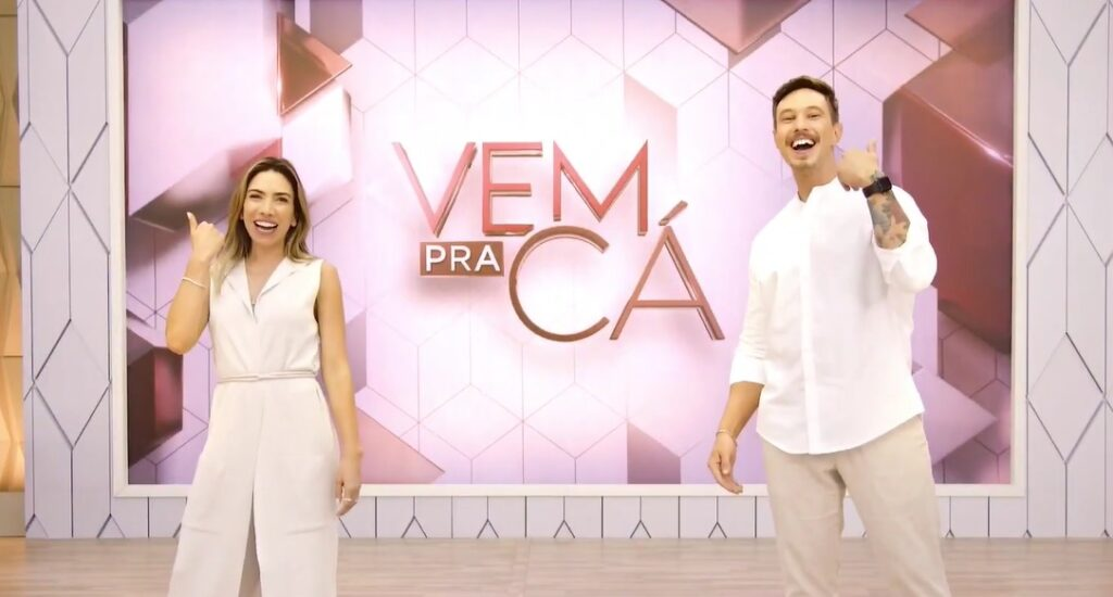 Vem Pra Cá estreia em 22 de março e será apresentado por Patricia Abravanel e Gabriel Cartolano (foto: Reprodução/SBT)