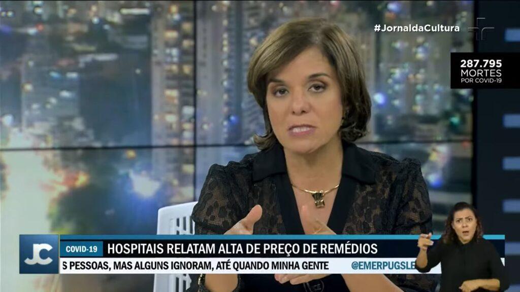 Vera Magalhães participou do Jornal da Cultura e foi acusada de xenofobia pelos internautas (foto: Reprodução/TV Cultura)