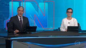 William Bonner e Renata Vasconcellos foram liberados para megaferiado, mas os demais funcionários da Globo não (foto: Reprodução/TV Globo)