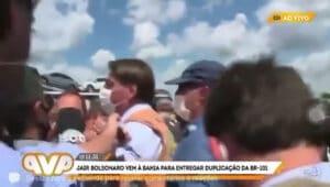 Repórter do SBT da Bahia é ofendida por Jair Bolsonaro (foto: Reprodução)