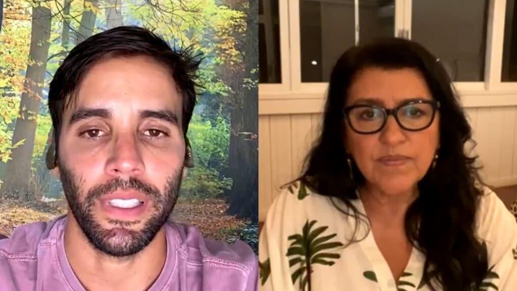 Daniel Cady, marido da cantora Ivete Sangalo, culpou empregada por infecção da covid-19 em live com Regina Casé (foto: Reprodução)