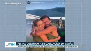 Ator Henri Castelli estava em festa clandestina no interior de Goiás (foto: Reprodução/TV Anhanguera)