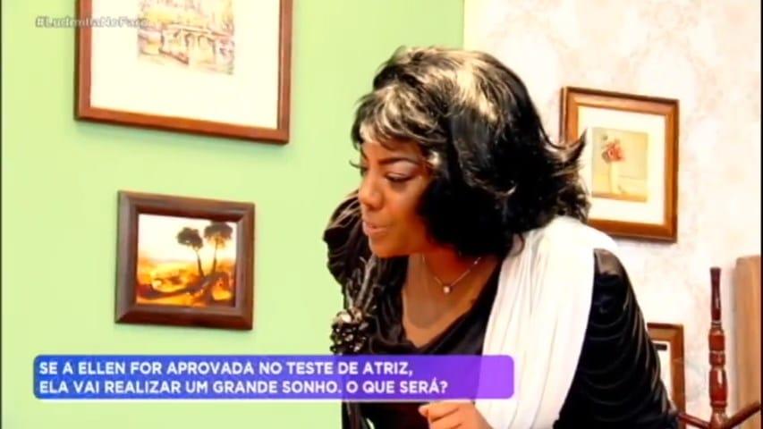 Ludmilla se transforma em Rochelle, de Todo Mundo Odeia o Chris, no programa de Rodrigo Faro (foto: Reprodução)