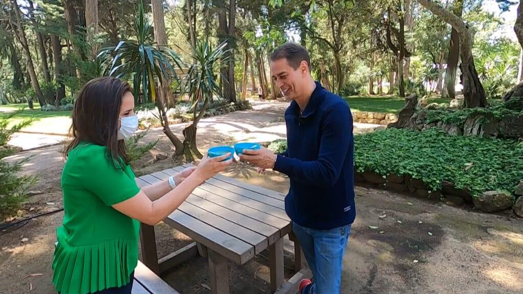 Marcello Antony é entrevistado pelo Domingo Espetacular (foto: Divulgação/Record)