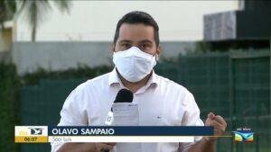 Repórter da TV Mirante, afiliada da Globo, foi furtado enquanto trabalhava (foto: Reprodução/TV Mirante)