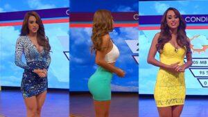 Yanet Garcia usava roupas sensuais para apresentar a previsão do tempo (foto: Reprodução)