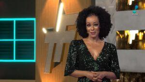 Alinne Prado protagonizou ação de merchandising constrangedora na estreia do novo TV Fama (foto: Reprodução/RedeTV!)