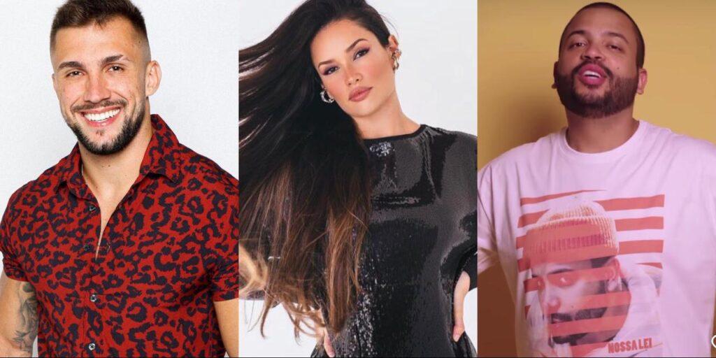 Equipes de Arthur, Juliette e Projota foram notificadas pela Globo por violação de direitos autorais (foto: Montagem/Redes Sociais)