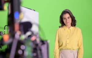 Primeira reportagem de Renata Vasconcellos na Globo foi exibida no Jornal Hoje (foto: Globo/Divulgação)