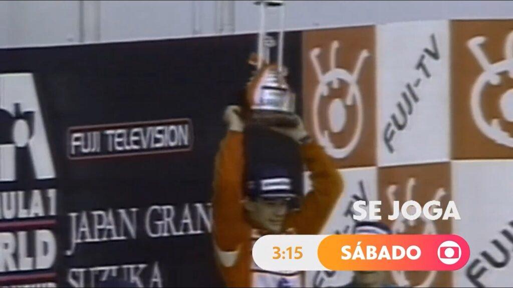Se Joga pirateou imagens de Ayrton Senna na Fórmula 1 e colocou diretoria da Globo em apuros (foto: Reprodução/TV Globo)