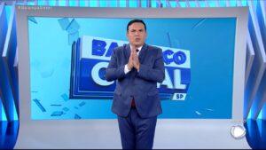 Reinaldo Gottino no Balanço Geral de 13 de abril: 5ª vitória seguida contra o Plantão BBB (foto: Reprodução/Record)