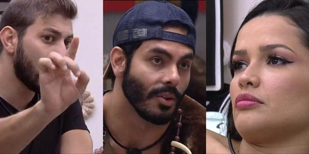 Caio Affiune e Rodolffo Matthaus tentaram justificar votos em Juliette no BBB 21 (foto: Reprodução/TV Globo)