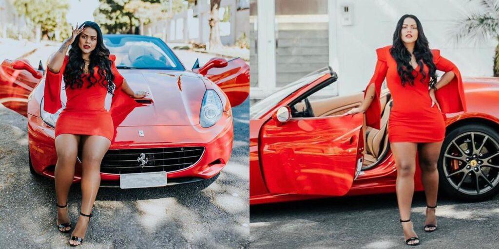 Camila Loures foi parada pela polícia pouco depois de comprar sua Ferrari (foto: Reprodução/Redes Sociais)