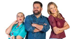 Dona Maricotinha, Laércio Botega e Maria Ester são os apresentadores de A Tarde é Nossa (foto: Divulgação/SCC SBT)