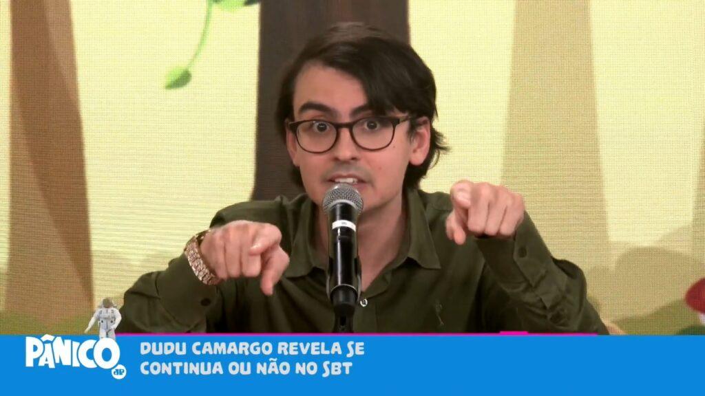 Dudu Camargo deixou colegas do SBT revoltados após entrevista ao Pânico (foto: Reprodução/Jovem Pan)