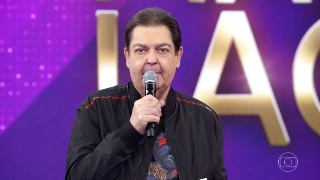 Faustão durante a edição 2020 do Troféu Mário Lago, transmitida em 27 de dezembro (foto: Reprodução/TV Globo)