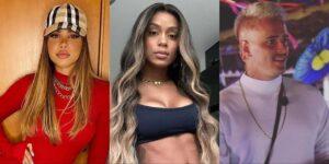 Gabily, MC Rebecca e Caíque Gama se envolveram em uma confusão generalizada (foto: Reprodução)