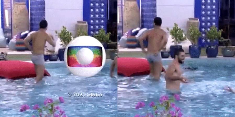 Gil do Vigor escandalizou a nação ao mostrar a bunda no encerramento do BBB 21 (foto: Reprodução/TV Globo)