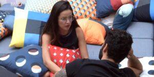 Juliette desabafou com Rodolffo sobre o comportamento de Caio pós-Jogo da Discórdia (foto: Reprodução/TV Globo)